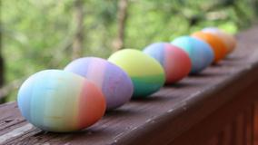 Rainbow Color Easter Eggs